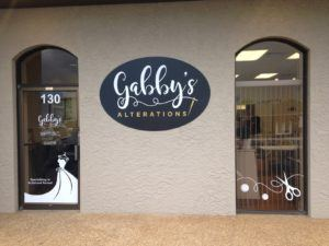 Gabby's Alterations Sign