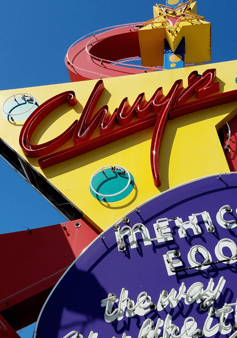 Chuy's Mexican Food Sign at Daytime