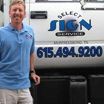 Select Sign Service Owner Joe McCrary